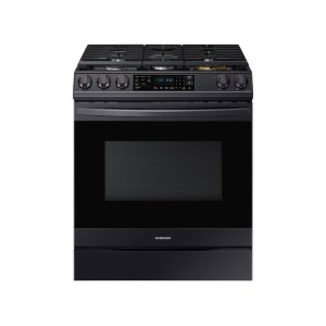 Samsung Appliances6.0 cu. ft. Front Control Slide-in Gas Range with Air Fry & Wi-Fi in Black Stainless Steel