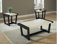 Century Black / White Faux Marble 3 Pack