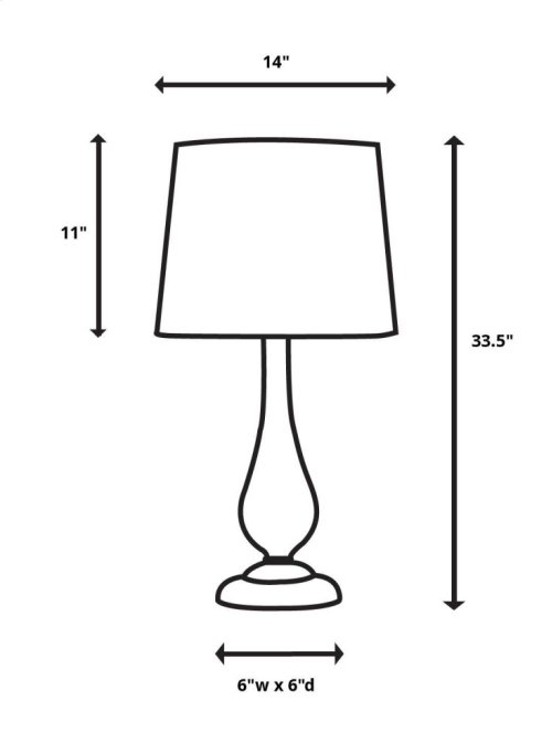 Coriano Table Lamp, 2 Per Box