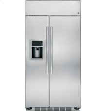 "GE Profile Series 48"" Built-In Stainless Side-by-Side Refrigerator"