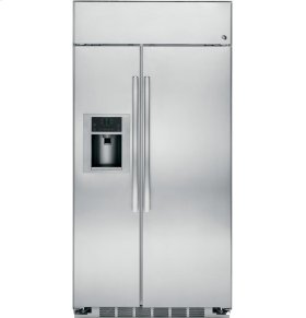 """GE Profile Series 48"""" Built-In Stainless Side-by-Side Refrigerator"""