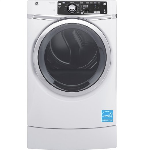 GE® 8.3 cu. ft. Capacity RightHeight Front Load Gas ENERGY STAR® Dryer with Steam