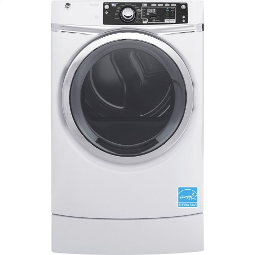 GE® 8.3 cu. ft. Capacity RightHeight™ Front Load Electric ENERGY STAR® Dryer with Steam