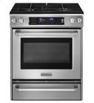 30-Inch 4-Burner Dual Fuel Slide-In Range, Pro Line® Series - Stainless Steel Product Image