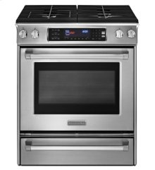 30-Inch 4-Burner Dual Fuel Slide-In Range, Pro Line® Series - Stainless Steel