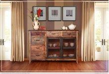 Multicolor Buffet 6 Drawers, 2 Mesh Doors