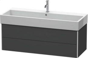 Vanity Unit Wall-mounted, Graphite Matt (decor)