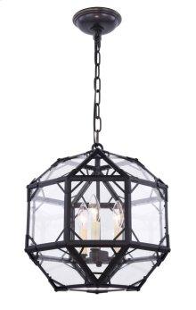 Gordon Collection 3-Light Rustic Zinc Finish Pendant
