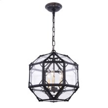 Gordon Collection 3-Light Rustic Zinc Finish Pendant