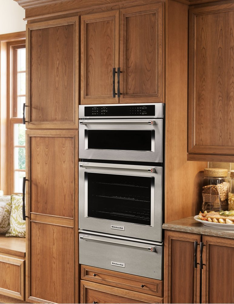 koce507ess kitchenaid 27 combination wall oven with even heat true