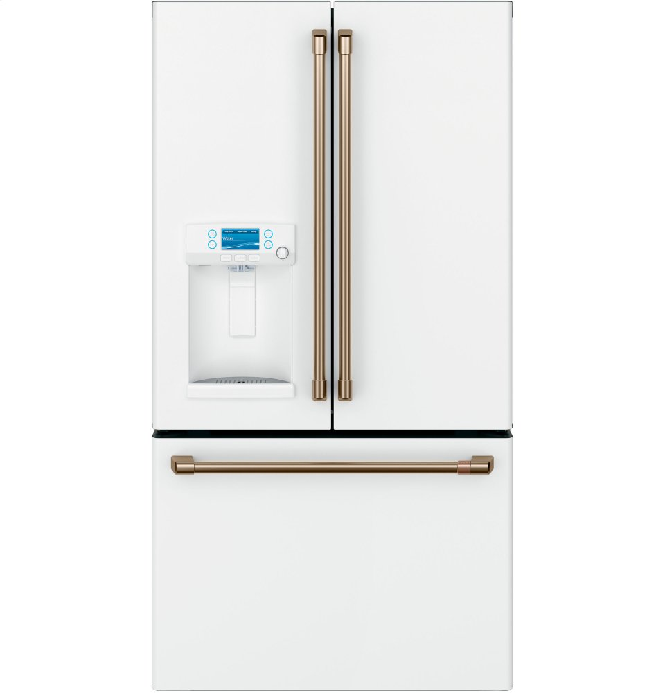 Cafe AppliancesEnergy Star &Reg; 22.1 Cu. Ft. Smart Counter-Depth French-Door Refrigerator With Hot Water Dispenser