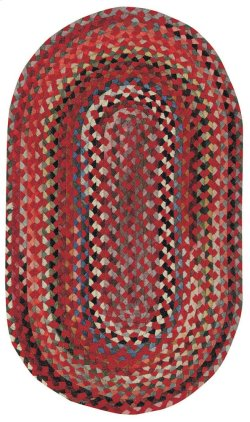 Plymouth Country Red Braided Rugs (Custom)