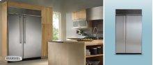 """42"""" Refrigerator Freezer - 42"""" Marvel Side-by-Side Combination Refrigerator Freezer - White Interior with Panel Door"""