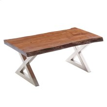 Living On the Edge Coffee Table With Silver Legs