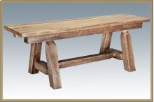 Homestead 6 Foot Plank Style Bench - Stained and Lacquered
