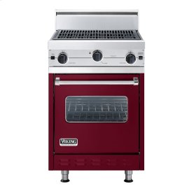 """Burgundy 24"""" Char-Grill Companion Range - VGIC (24"""" wide range with char-grill, single oven)"""