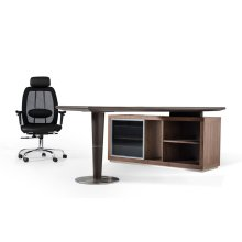 Modrest Lincoln - Modern Office Desk and Side Storage Cabinet