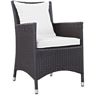 Convene Dining Outdoor Patio Armchair in Espresso White