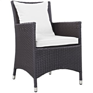 Convene Dining Outdoor Patio Armchair in Espresso White