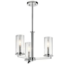 Crosby Collection Crosby 3 Light Chandelier/Semi Flush CH