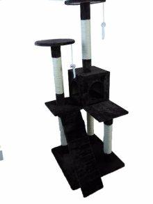 Cat Tree Furniture Condo Scratching Post - Cat Furniture Pet House Brown - Ipet