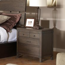 Promenade - Three Drawer Nightstand - Warm Cocoa Finish
