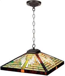 Hanging Lamp - Geometry Tiffany Shade, Type G 40wx2