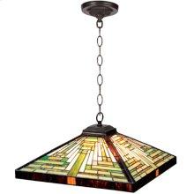 Hanging Lamp - Geometry Tiffany Shade, Type G 40wx2