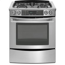 "Slide-In Gas Range with Convection, 30"", Euro-Style Stainless Handle"