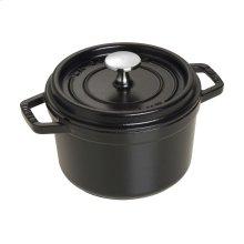 Staub Cast Iron 1.25-qt Round Cocotte, Black Matte