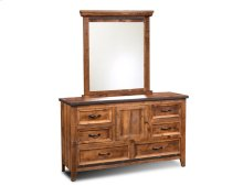 HH-4365 Bedroom  Dresser with Mirror  6 Drawers  Storage Cabinet