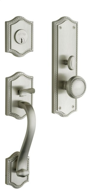Satin Nickel with Lifetime Finish Bristol Entrance Trim