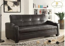 Futon/Sofa Dark Brown PU