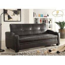 Futon/Sofa Dark Brown PU