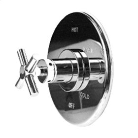 Polished Chrome Balanced Pressure Shower Trim Plate with Handle. Less showerhead, arm and flange.