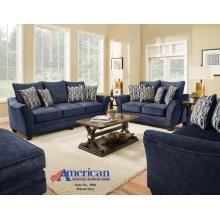 3850 - Athena Navy Sofa