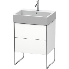 Vanity Unit Floorstanding, White Matt