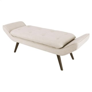 Newcastle KD Fabric Tufted Bench, Flax