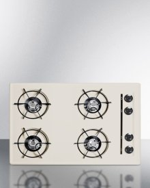 """30"""" Wide Cooktop In Bisque, With Four Burners and Gas Spark Ignition; Replaces Stl053"""