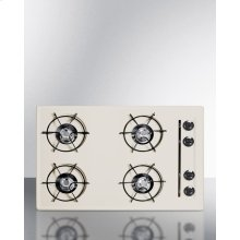 "30"" Wide Cooktop In Bisque, With Four Burners and Gas Spark Ignition; Replaces Stl053"
