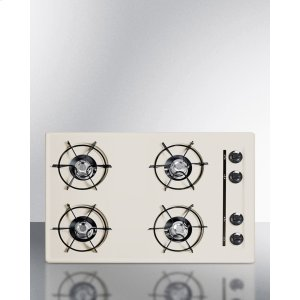 """Summit30"""" Wide Cooktop In Bisque, With Four Burners And Gas Spark Ignition; Replaces Stl053"""