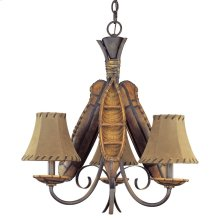 Old River Canoe Chandelier - Small