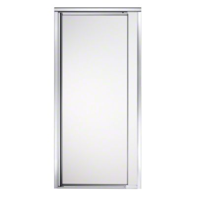 "Vista Pivot™ II Shower Door - Height 65-1/2"", Max. Opening 31-1/4"" - Silver with Frosted Glass Pattern"