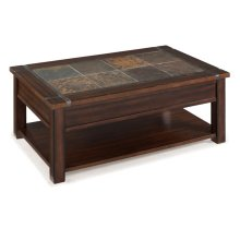 Rectangular Lift Top Cocktail Table (w/Casters)