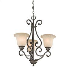 Camerena Collection Camerena 3 Light Chandelier in Olde Bronze