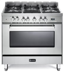 "Stainless Steel 36"" Dual Fuel Single Oven Range - 'N' Series"