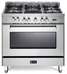 """Stainless Steel 36"""" Dual Fuel Single Oven Range - 'N' Series"""