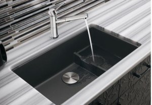Blanco Precis Cascade Super Single Bowl - Metallic Gray
