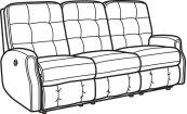Devon Fabric Power Reclining Sofa without Nailhead Trim