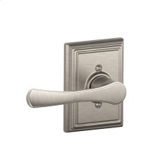 Avila Lever with Addison trim Non-turning Lock - Satin Nickel